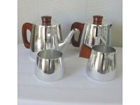 Vintage 1950/60's Sona silver tea pot set