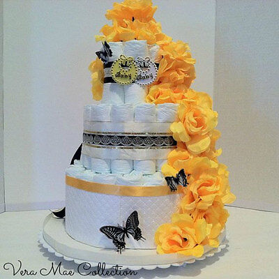 Baby Shower Gift, Table Top Centerpiece Decor, Diaper Cake For A Boy Or - Baby Shower Centerpieces For Boy