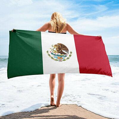 México Mexicano Bandera Grande 76.2x152cmCOTTON Baño Piscina Toalla Playa Wrap