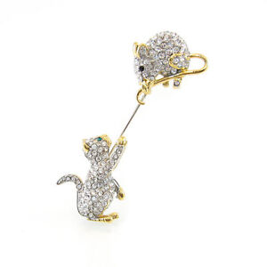 CAT & MOUSE PIN BY FIFTH AVENUE