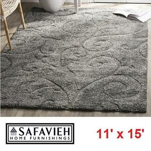 NEW SAFAVIEH 11\'x15\' SHAG AREA RUG - 119355861 - FLORIDA SHAGS COLLECTION  SCOLLING