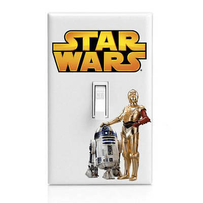 Star Wars, R2D2 C3P0 Light Switch Cover, Bedroom Decor, Home Decor, Renters deco](Star Wars Bedroom Decorations)