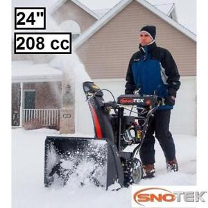 """NEW* SNOTEK 24"""" GAS SNOW BLOWER 920402 215264717 2 STAGE ELECTRIC START SNOWBLOWER REMOVAL CLEARING DRIVEWAY WALKWAY"""