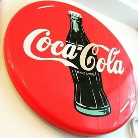 1980s Spanish Coca Cola Wall Decoration! Vintage/Retro/Breweriana/Wall Decor