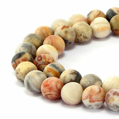 Crazy Agate Beads - Matte Crazy Agate Round Loose Beads Size 6mm/8mm/10mm/12mm 15.5