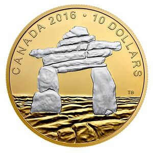 2016 Canadian Inukshuk $10.00 Coin
