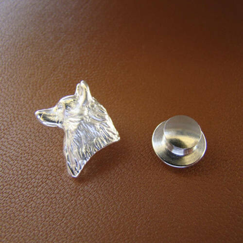 Sterling Silver Siberian Husky Head Study Lapel Pin