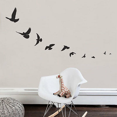 FLYING BIRDS Sparrow Swallow Vinyl Wall Decals Stickers Room Decor