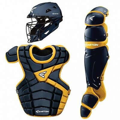 Easton M10 Baseball Catchers Gear Package Set Intermediate Kit Navy Blue/Gold