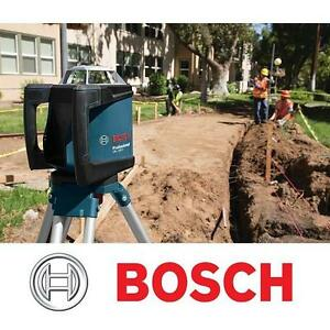 NEW BOSCH LEVELING ROTARY LASER KIT - 111712733 - SELF LEVELING AUTOMATIC REMOTE RECEIVER -  POWER HAND TOOL MEASURIN...