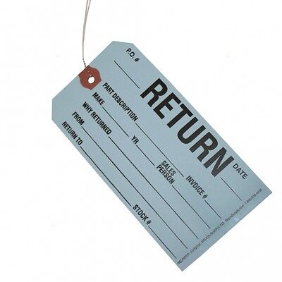 Box Of 250 Return Tags - Wire Attached - 5 34 X 2 78 Heavy Card Stock New