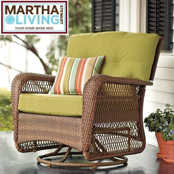 Beau NEW MSL CHARLOTTETOWN SWIVEL ROCKER MARTHA STEWART   CHARLOTTETOWN   GREEN  BEAN CUSHIONS   FURNITURE DECOR OUTDOORS | Patio U0026 Garden Furniture | Sault  Ste.