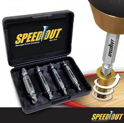 Speed Out 4pcs Damaged Screw Extractor Use With Any Drill As Seen On TV SpeedOut (Use Screw Extractor)
