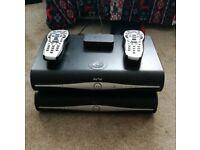 2 x sky boxes abd remote controls