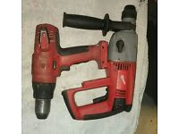 Milwaukee 18v SDS & Combi Drill Kit. Used, but working well.