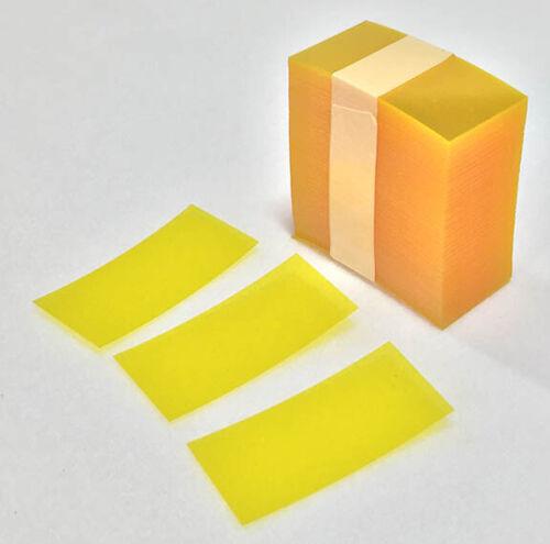 "2.5"" x 1.25"" Retail Yellow Transparent Plastic Shelf Strips 1500 pcs Liquor Pawn"