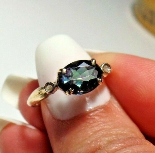 Vintage Blue Gemstone Ring (tested) size 6.5