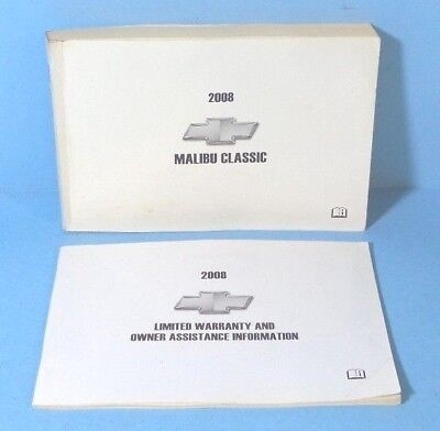 08 2008 Chevrolet Malibu Classic owners manual