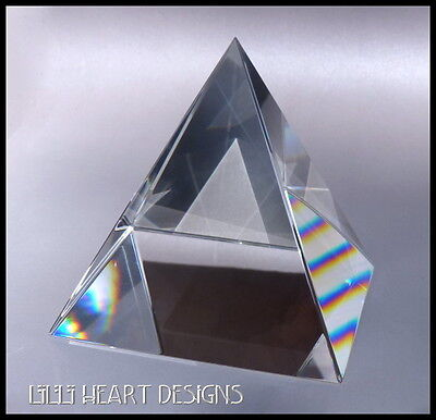 HUMONGOUS LARGEST RARE CRYSTAL PYRAMID PRISM 100MM 4 INCHES ONLY ONE ON EBAY