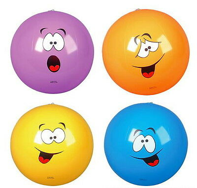 """LOT OF 24 FUNNY SILLY FACE 16"""" BEACH BALLS BEACHBALL BALL POOL PARTY FREE SHIP!!"""