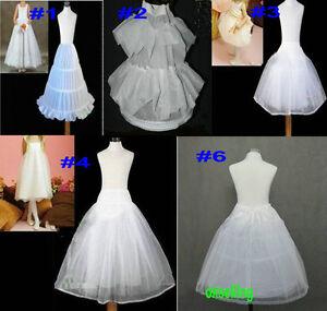 6-Style-Flower-Girl-Wedding-Hoop-Hoopless-short-Petticoat-Crinoline-Underskirt