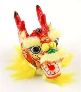 DRAGON HEAD ORNAMENT Yellow Chinese New Year Lucky Gift