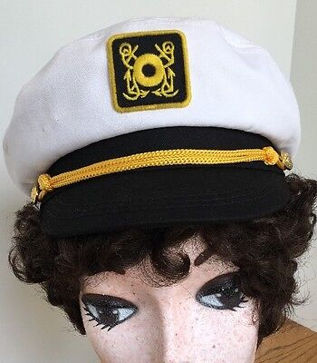 Halloween Costume Dress Up Role Play Ship Boat Captain Hat Snap Back](Boat Captain Halloween Costume)