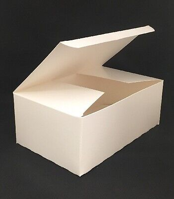 White Chipboard Tuck Box Auto Bottom - 100 Count - 8 14 X 5 116 X 3 116