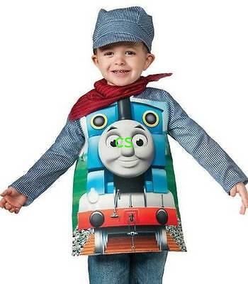 NEW Rubies Toddler Boys 3 Pc Thomas The Train Engine Halloween Costume-size 2/4](Thomas Train Toddler Costume)
