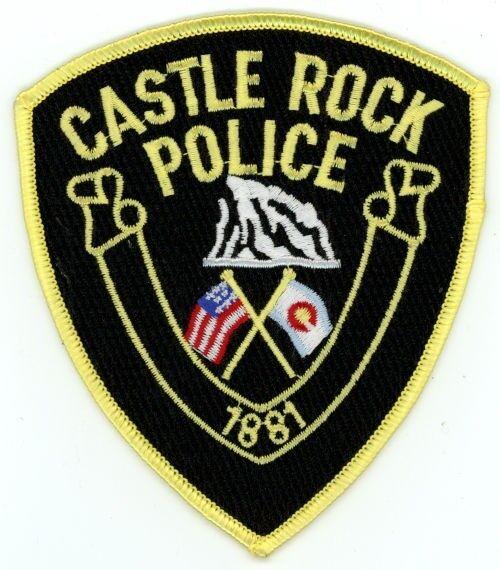 CASTLE ROCK POLICE COLORADO CO COLORFUL PATCH SHERIFF