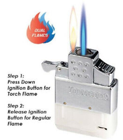 Thunderbird Butane Vector Dual Flame Lighter Insert works w/