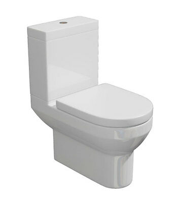 Close Coupled Toilet WC Cistern, Fittings and Soft Close Seat Designer Cloakroom