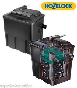 Hozelock Ecocel 2500 Fish Pond Filter Black Box Water Filtration System Media Ebay