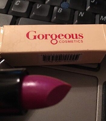 Gorgeous Cosmetics Lipstick (Gorgeous Cosmetics Lipstick in JELLY BEAN NEW W/ BOX  FULL SIZE 0.14)