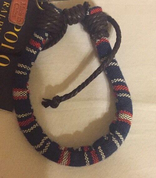 polo ralph lauren Cotton wrist band bracelet Adjustable PRL Charm