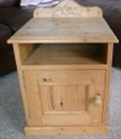 Stylish solid wood bedside/pot cabinet