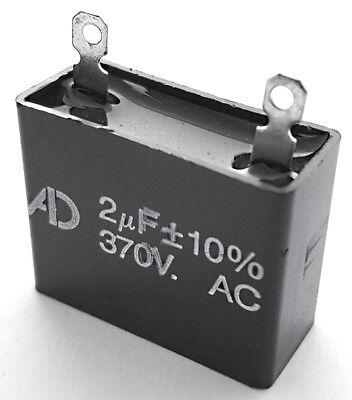 Motor Run Capacitor Metallized Polyester 2uf 370vac 10 Adm370d205k 1 Pc