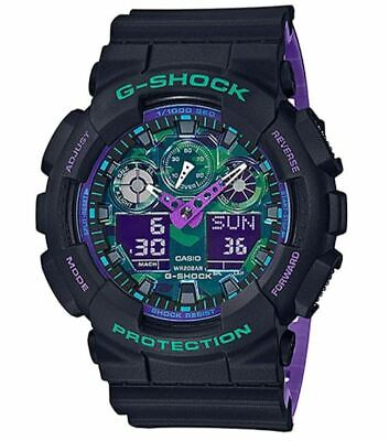Casio G-Shock Men's Quartz Digital World Time Alarm 55mm Watch GA-100BL-1A