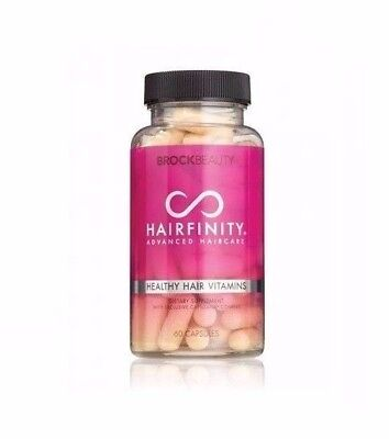 Brockbeauty Hairfinity New Hair Vitamins 60 Capsules 1 Month Supply Exp 06/2019