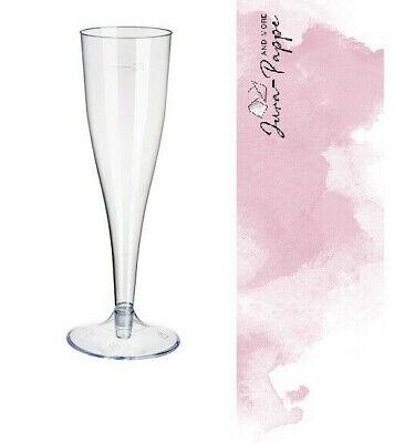 40 Sektgläser Sektglas 0,1 l Plastik Einweg zweiteilig