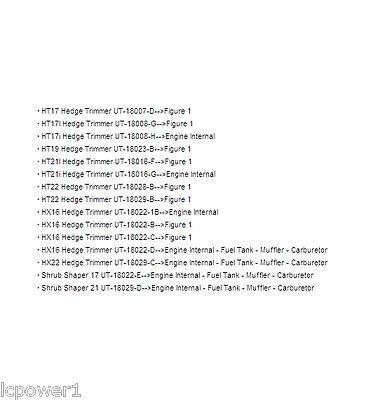 [hom] [up07066] Genuine Homelite Hedge Trimmer Piston Ring Ht17 Ht17i Ht19 Ht21i