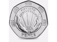 Rare Collectible 50p Coin - 50th Anniversary of the National Health Service (1998)