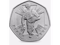 50p army coin RARE