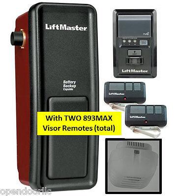8500 LiftMaster Elite Series® Wall Mount Garage Door Opener w/2 893MAX Remotes