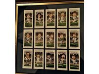 Blues,Villa,Albion framed cigarette style cards