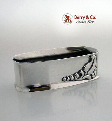 Blossom Sterling Silver Napkin Ring Webster 1940