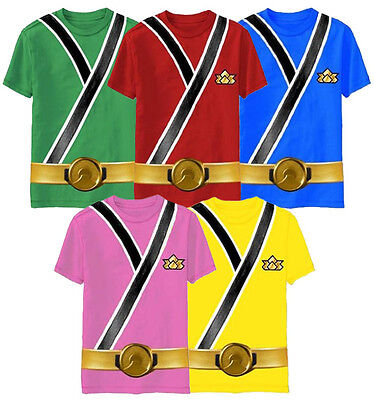 Child Toddler TV Show Power Rangers Samurai Ranger Monster Costume T-Shirt Shirt - Power Rangers Monster Costumes