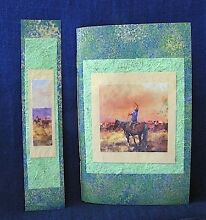 Cowboy Notebook with Green Handmade Paper and Bookmark Clifton Beach Cairns City Preview
