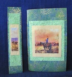 Cowboy Notebook with Green Handmade Paper and Bookmark + FREE PEN Clifton Beach Cairns City Preview