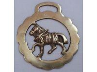 Vintage TROTTING HARNESS HORSE Horse Brass.